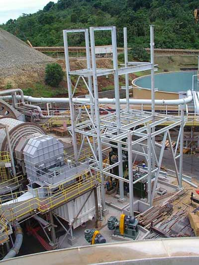 Lihir Gold Mine - Sump and Feed Pump Erection Screening, Gravity Separation and Intensive Cyanidation